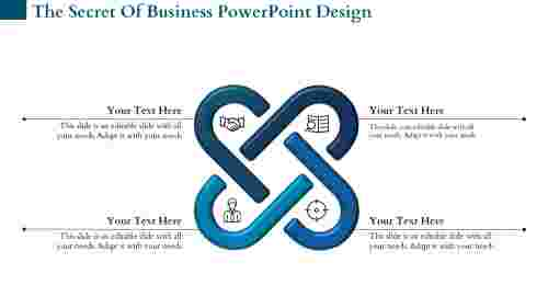 Interconnected business PowerPoint design