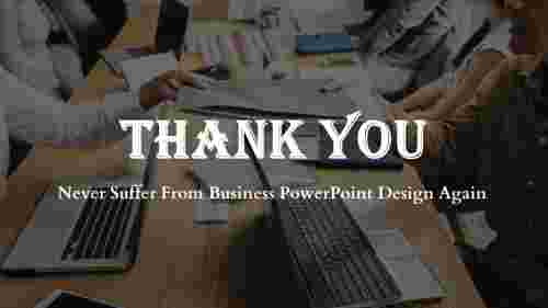 business powerpoint design- Thank You