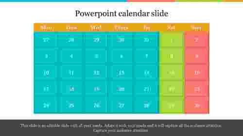 Month PowerPoint calendar slide