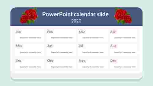 2020 PowerPoint calendar slide