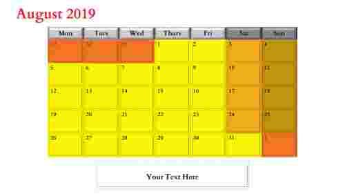 powerpoint calendar slide