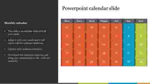 Best PowerPoint calendar slide