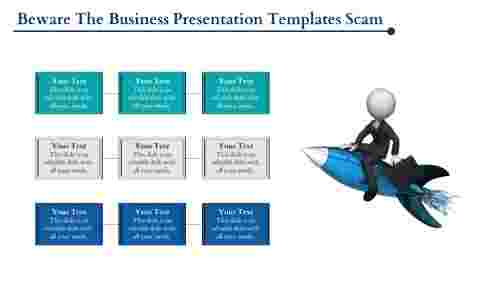 Flying business presentation template