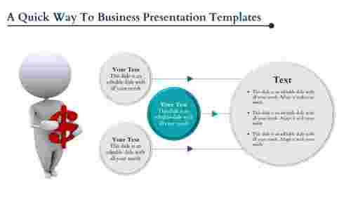 Business presentation template sphere model