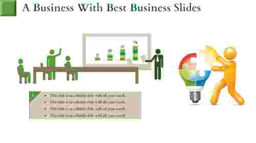 best business slides-A Business With BEST BUSINESS SLIDES