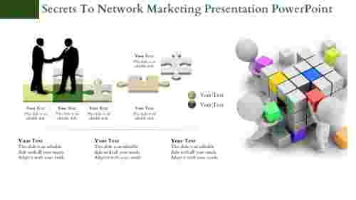 Network Marketing Presentation PowerPoint - Puzzle Model