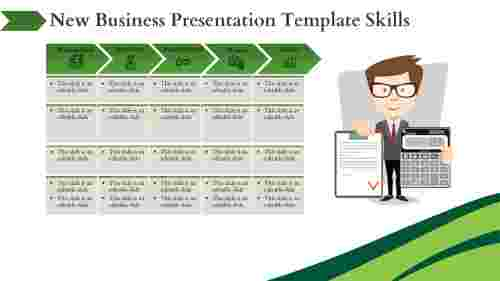 New Business Presentation Template – Business Schedule