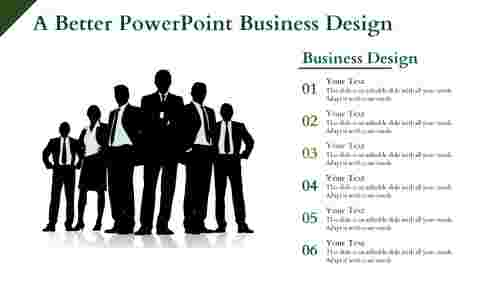 PowerPoint Business Design Template With Business Executives