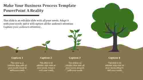Tree model business process template powerpoint