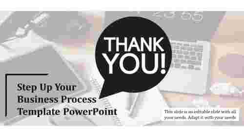 Thank You Slide - Business Process Template PowerPoint