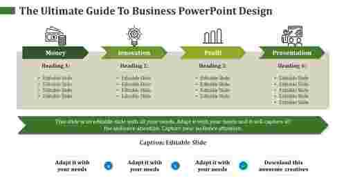 business powerpoint design- editable slide