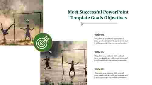 Portfolio Powerpoint Template Goals Objectives