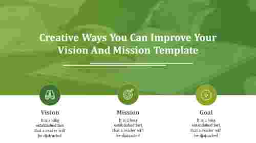 vision and mission template