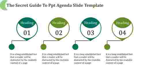 PPT agenda slide template