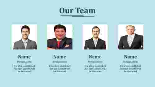 Our team powerpoint template design