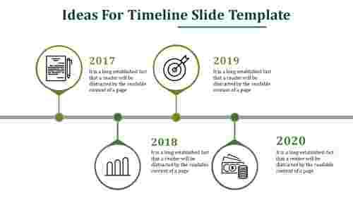Timeline slide template - Rounded model