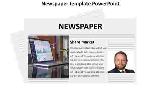 newspaper template powerpoint-