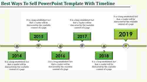 innovative powerpoint template with timeline