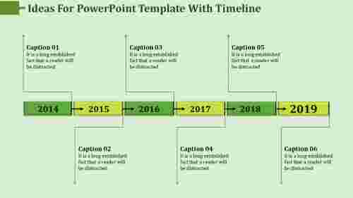 Continuous Process Powerpoint Template With Timeline