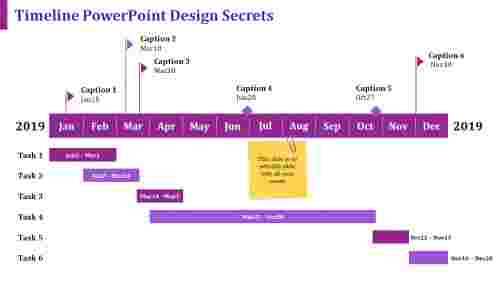 collaborative timeline powerpoint design