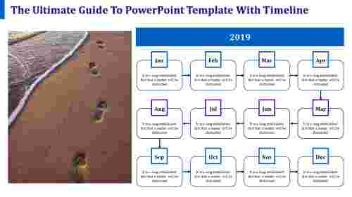 applied powerpoint template with timeline