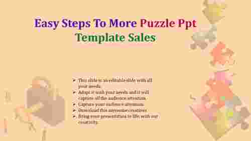puzzle PPT template