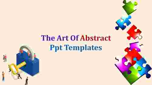 Puzzles model abstract PPT template
