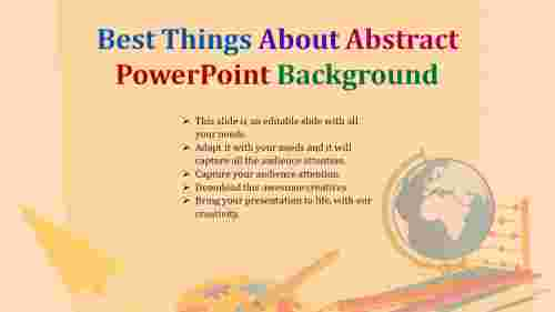 Abstract Powerpoint Background with Globe and Art designs