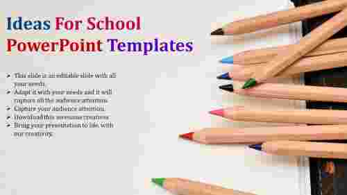 school powerpoint template-education model background design