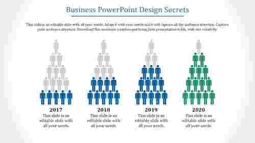 Silhouette business powerpoint design