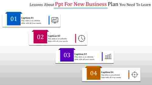 PPT for new business plan with Icons