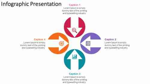 infographic presentation arrow design