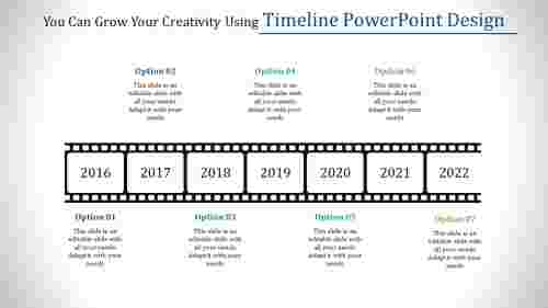 Patterned timeline powerpoint design