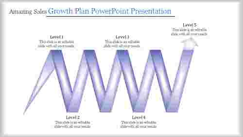 Sales Growth Plan Powerpoint Presentation - Arrow model