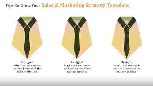 Sales & Marketing Strategy Template Presentation-Horizontal Layered