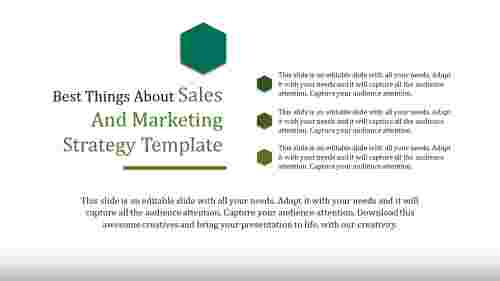 Ideas for Sales and marketing strategy template
