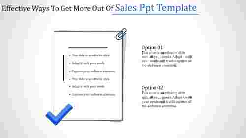 Sales PPT template PowerPoint presentation