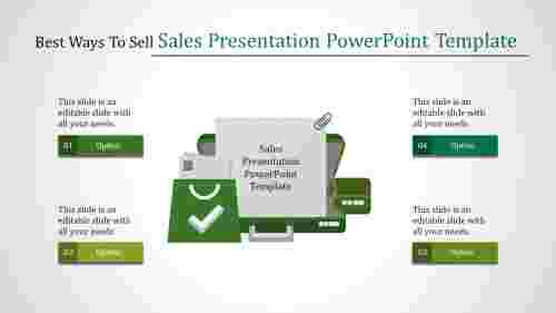 sales presentation powerpoint template with suitcase