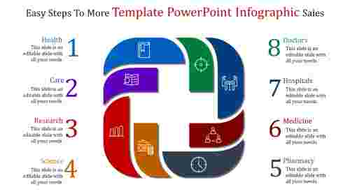 Marketing sales template powerpoint infographic