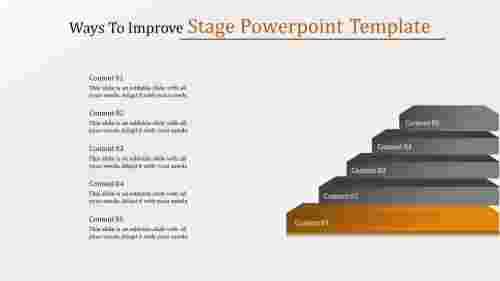 Five stages powerpoint template