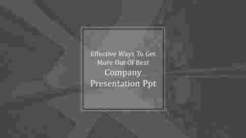best company presentation PPT