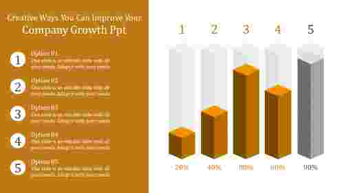 Company growth PPT with cube designs