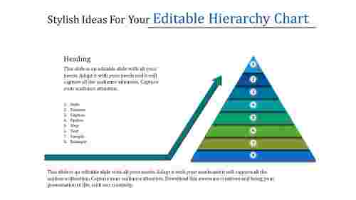 editable hierarchy chart-pyramid shapes