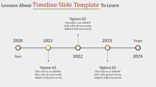 Detailed timeline slide template