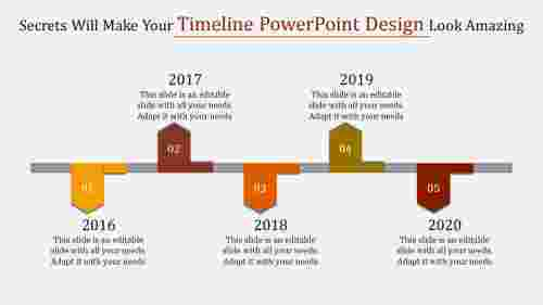 attached timeline powerpoint design