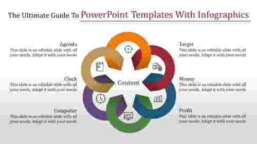 Joined powerpoint templates with infographics