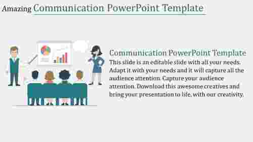 Portfolio communication powerpoint template
