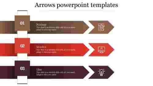 Editable Arrows Powerpoint Templates