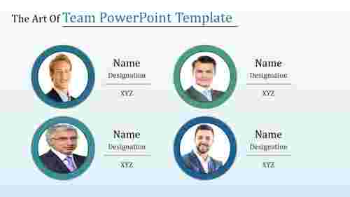 Team powerpoint template with Circle shape