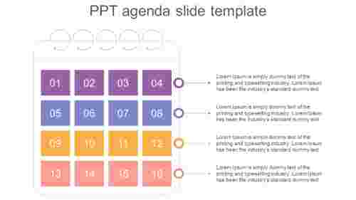 Calendar Design  PPT Agenda Slide Template